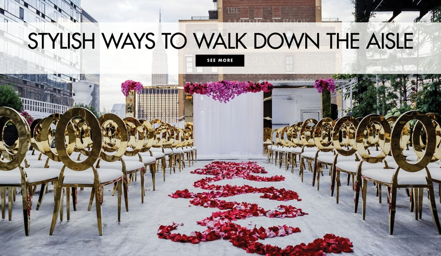 Stylish ways to walk down the aisle wedding ceremony aisle ideas