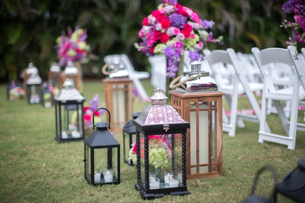 entrance of indian ceremony with intricate lantern, black lantern, wooden lantern, candles