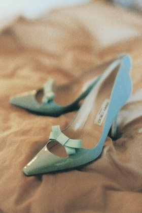 Tiffany blue jimmy choo heels with bow