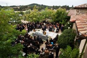backyard wedding at house in napa valley