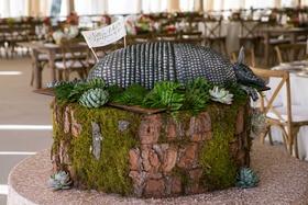 Rustic Southern wedding groom's cake inspired by Steel Magolias movie