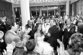 Jewish traditional Hora in ballroom reception New York NY