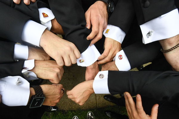 wedding accessories for groom and groomsmen personalized cuff links spiderman superman college