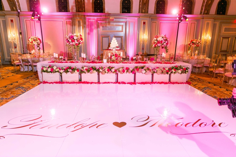 Romantic 30th wedding anniversary & vow renewal with pink