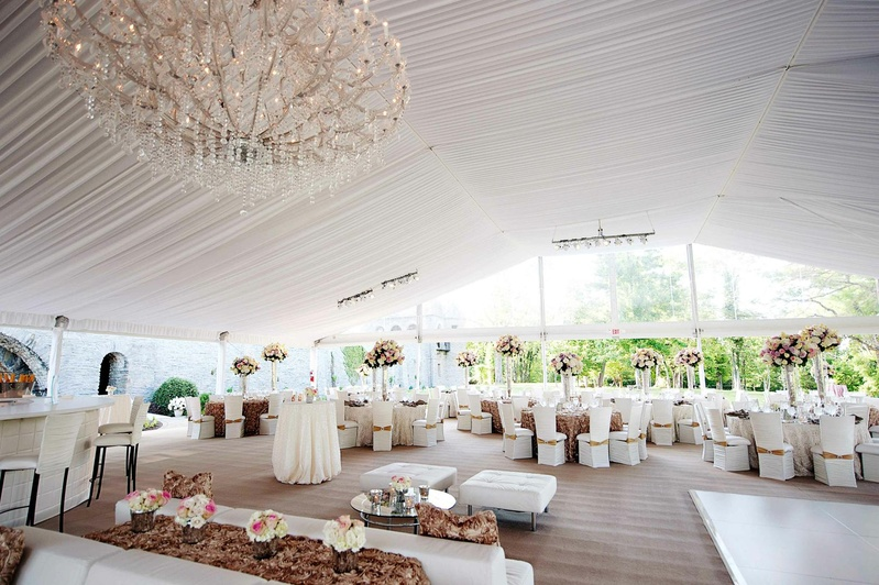 Room Shot Of Open Side Tent Wedding Reception