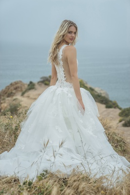 Corinne By By Sabrina Dahan Spring/Summer 2018 Tulle And Lace Ball Gown,  Illusion