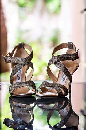 Bride wedding shoes bridal heels strappy sandals Jimmy Choo open toe buckle