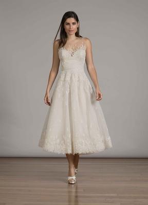 Fall Tea Length Wedding Dress