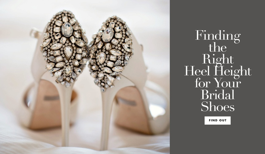 what is the right heel height for your wedding day
