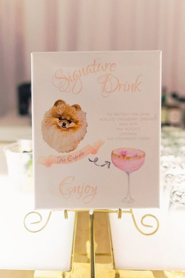 signature drink menu custom painting of pomeranian cupcake the pom instagram famous the cupcake