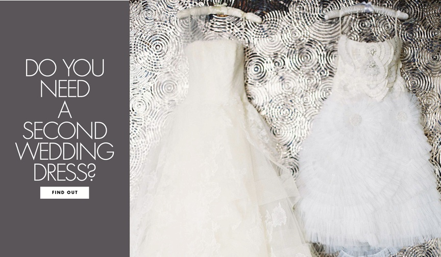 when to buy a second wedding dress for the reception