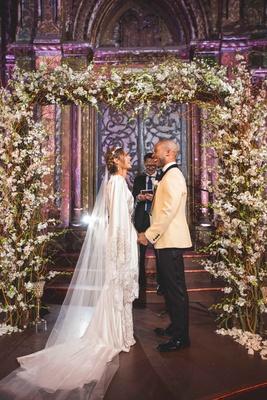 pia toscano american idol jimmy ro smith jennifer lopez wedding ceremony arch florals new york city