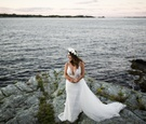 bride gown berta bridal plunging neckline coast embellishments tulle flower crown