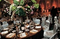 1930s-inspired tablescape and chairs