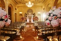 Biltmore Ballrooms wedding ceremony with pink flowers