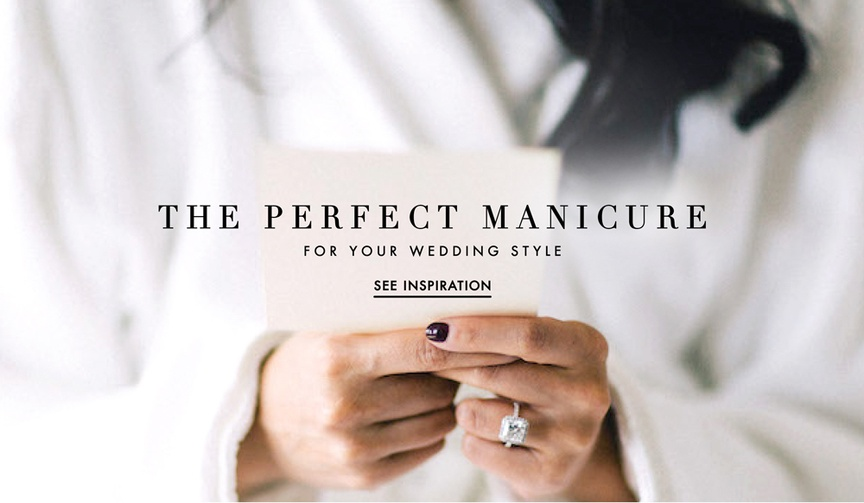 Wedding manicure ideas for brides with different styles