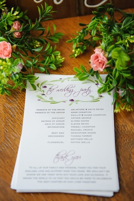 Italian-inspired ceremony cards with colorful design