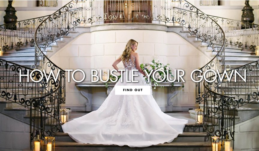 Find the right type of bustle for your bridal gown.