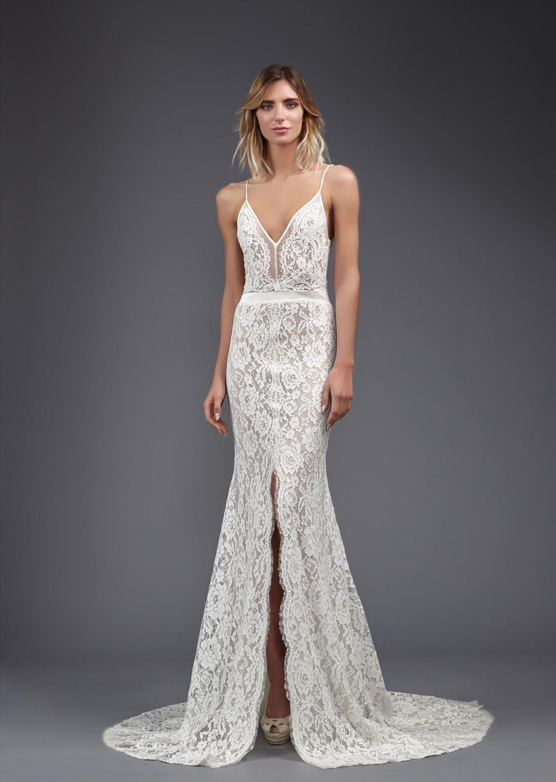 Lace Wedding Dress with Slit