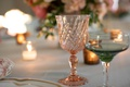 unique goblets for wedding reception, pale peach goblet for wedding reception