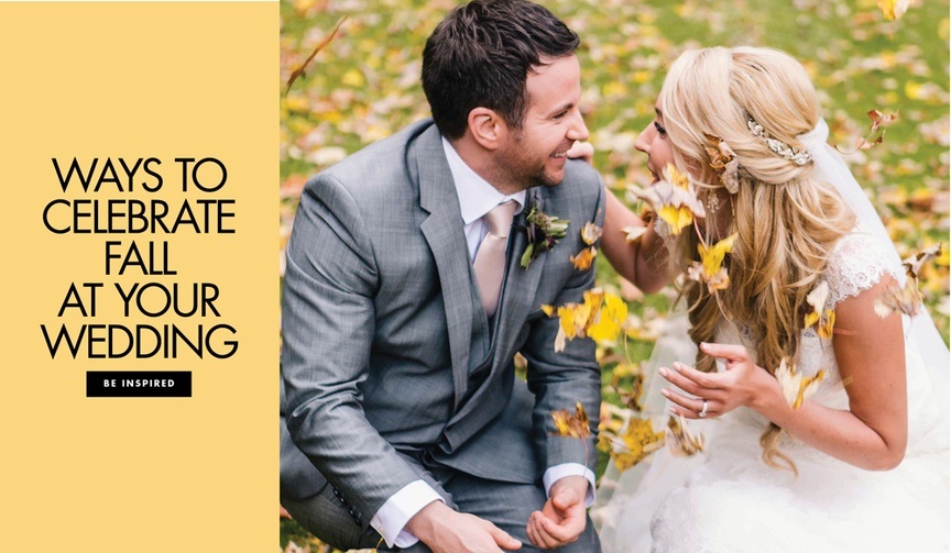 Ways to celebrate fall at your wedding with fall leaves decor