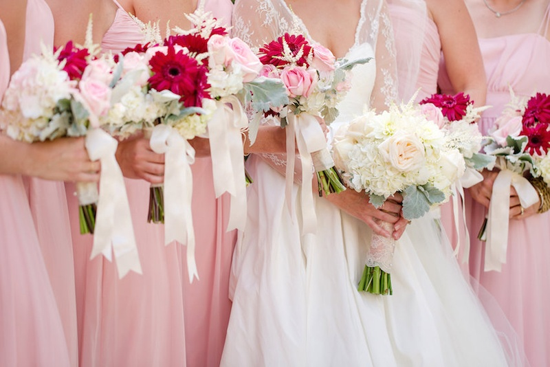Bouquets Photos Pink White Summer Bouquets Inside Weddings