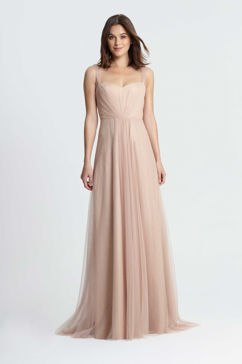 Bridesmaid dresses monique lhuillier bridesmaids spring 2017 monique lhuillier bridesmaids spring 2017 cap sleeve tulle gathered bridesmaid dress in tan light ombrellifo Image collections