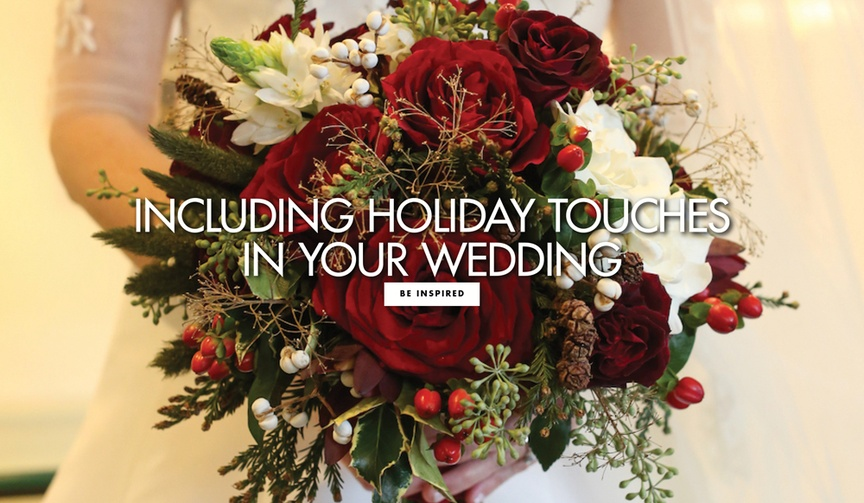 How to include festive holiday touches in your wedding decorations