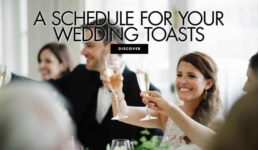a schedule for your wedding toasts who needs to give a wedding speech