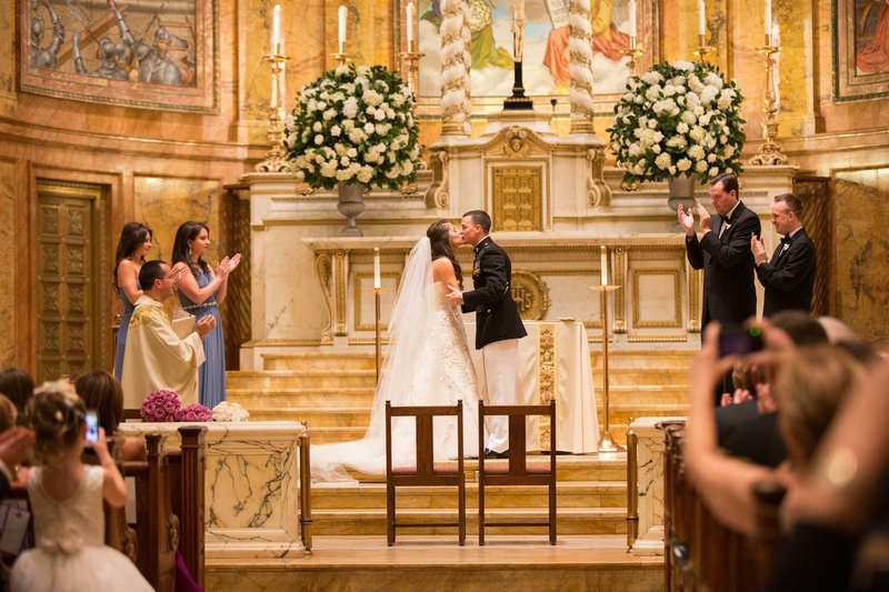 Traditional Catholic wedding in church