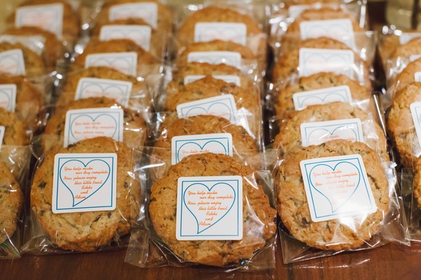 Single packaged cookie with custom sticker