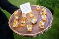 Wood slice natural tray rustic wedding ideas cocktail hour