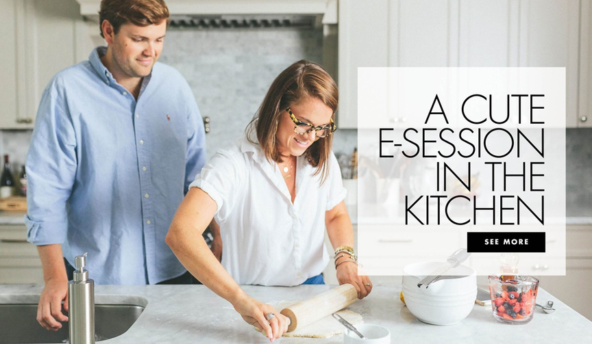 A cute e-session in the kitchen at home engagement shoot cooking baking ideas