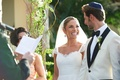 Bride and groom at Jewish destination wedding