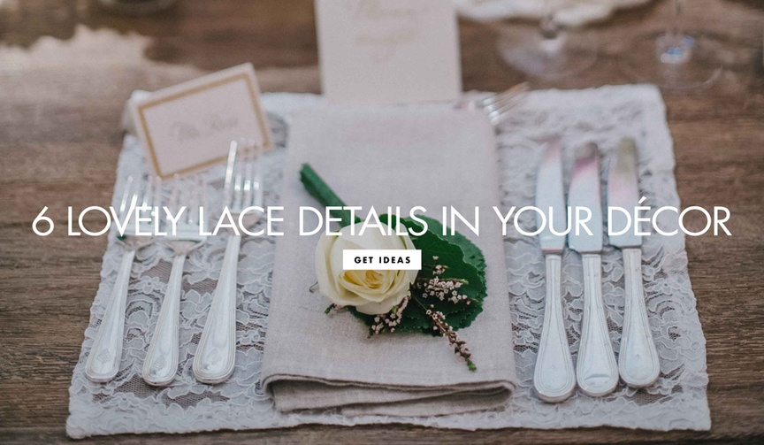 ways to include lace fabric material wedding decor ceremony reception feminine touches delicate