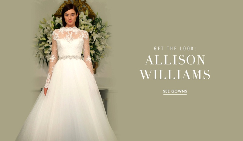 Allison Williams Inspired Wedding Dress With Sheer Sleeves