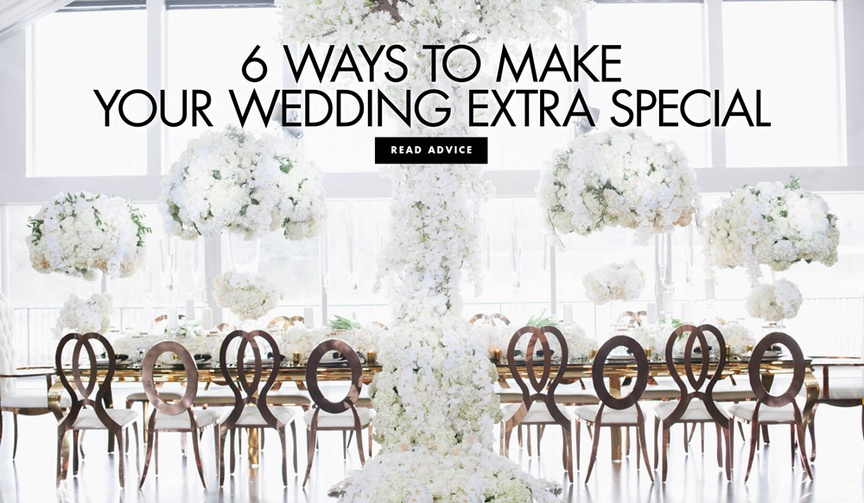 Six ways to make your wedding extra special expert advice from Lynn Lily V events