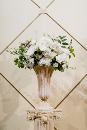 wedding ceremony flowers catholic mass traditional classic ceremony decorations