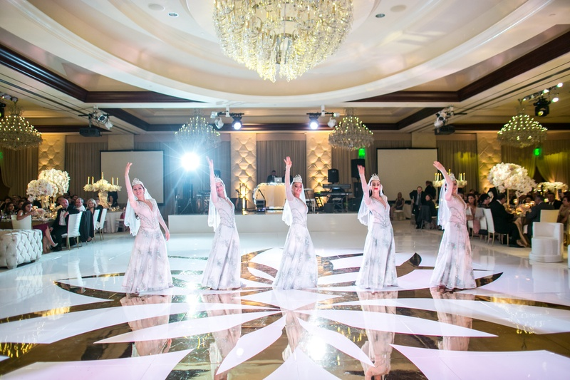traditional armenian dancers perform at armenian wedding