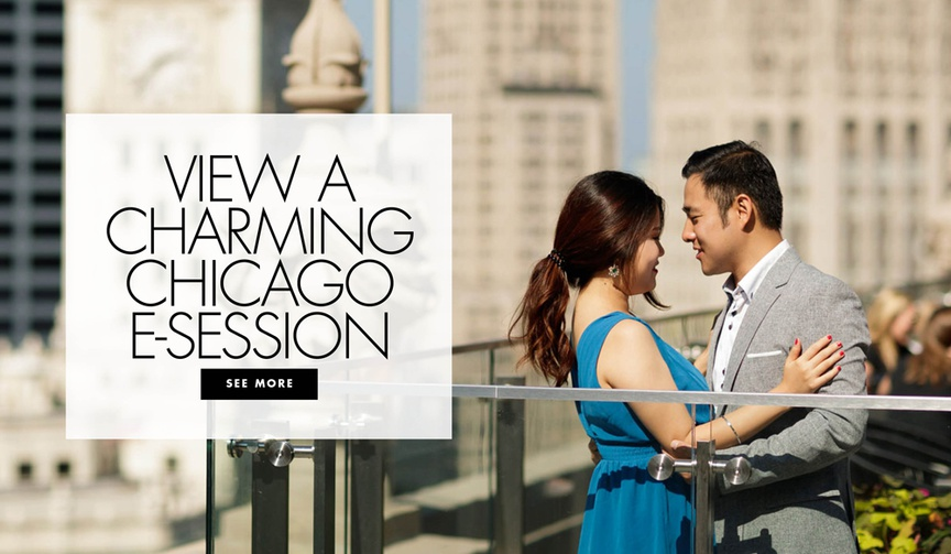 See more of this couple's engagement shoot at Chicago's must-see destinations.