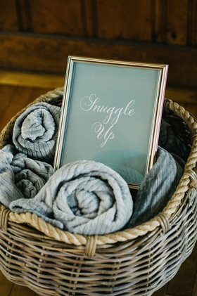 warm blankets favors cold cute ideas chilly wedding on the water maine outdoor ceremony reception