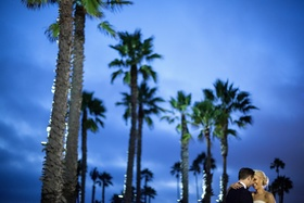 Sunset wedding portraits at Shutters on the Beach Santa Monica CA