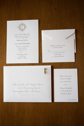 Calligraphy address with script font invite cards