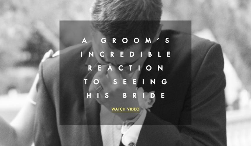 Emotional groom in viral YouTube video