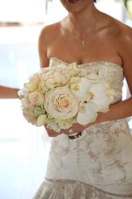 Bride's bouquet of light flowers