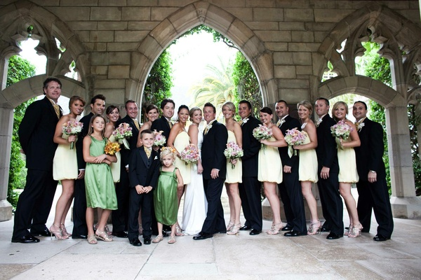 Summer wedding party at The Breakers in Florida