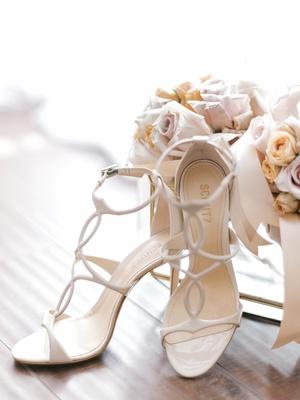 schutz bridal heels sandals with straps that loop around