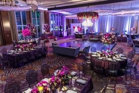 elegant las vegas wedding, fuchsia orchids, las vegas ballroom wedding