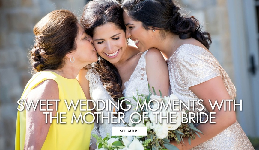 Sweet wedding moments with the mother of the bride and groom