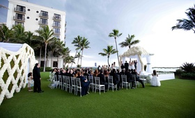 The Breakers Palm Beach grass lawn wedding ceremony